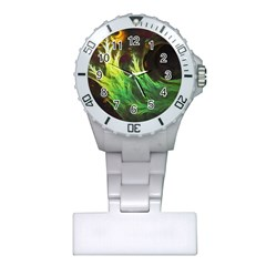 A Seaweed s Deepdream Of Faded Fractal Fall Colors Plastic Nurses Watch by jayaprime