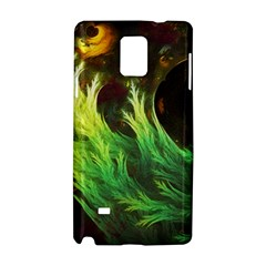 A Seaweed s Deepdream Of Faded Fractal Fall Colors Samsung Galaxy Note 4 Hardshell Case by jayaprime