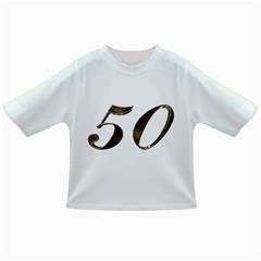 Number 50 Elegant Gold Glitter Look Typography 50th Anniversary Infant/toddler T Shirts by yoursparklingshop