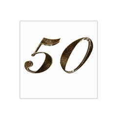 Number 50 Elegant Gold Glitter Look Typography 50th Anniversary Satin Bandana Scarf by yoursparklingshop