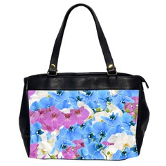 Tulips Flower Pattern Office Handbags (2 Sides)  by paulaoliveiradesign