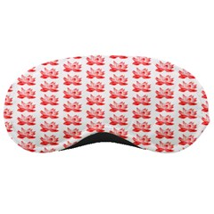 Red Lotus Floral Pattern Sleeping Masks by paulaoliveiradesign