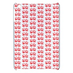 Red Lotus Floral Pattern Apple Ipad Mini Hardshell Case by paulaoliveiradesign