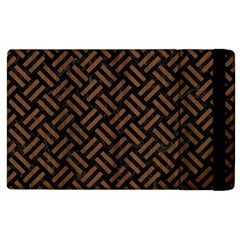 Woven2 Black Marble & Brown Wood Apple Ipad 3/4 Flip Case by trendistuff