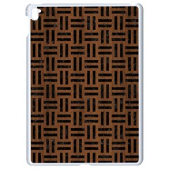 Woven1 Black Marble & Brown Wood (r) Apple Ipad Pro 9 7   White Seamless Case by trendistuff