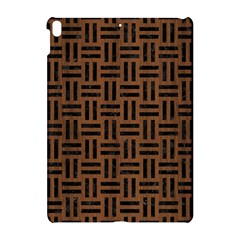 Woven1 Black Marble & Brown Wood (r) Apple Ipad Pro 10 5   Hardshell Case