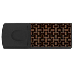 Woven1 Black Marble & Brown Wood Usb Flash Drive Rectangular (4 Gb) by trendistuff