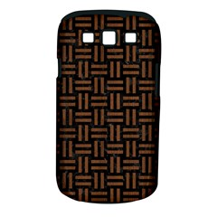 Woven1 Black Marble & Brown Wood Samsung Galaxy S Iii Classic Hardshell Case (pc+silicone) by trendistuff