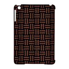 Woven1 Black Marble & Brown Wood Apple Ipad Mini Hardshell Case (compatible With Smart Cover) by trendistuff