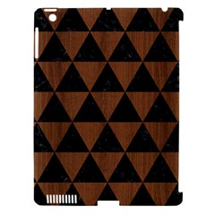 Triangle3 Black Marble & Brown Wood Apple Ipad 3/4 Hardshell Case (compatible With Smart Cover) by trendistuff