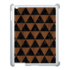Triangle3 Black Marble & Brown Wood Apple Ipad 3/4 Case (white) by trendistuff