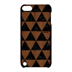 Triangle3 Black Marble & Brown Wood Apple Ipod Touch 5 Hardshell Case With Stand by trendistuff