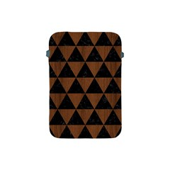 Triangle3 Black Marble & Brown Wood Apple Ipad Mini Protective Soft Case by trendistuff