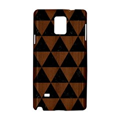Triangle3 Black Marble & Brown Wood Samsung Galaxy Note 4 Hardshell Case by trendistuff