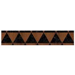 Triangle3 Black Marble & Brown Wood Flano Scarf (small) by trendistuff