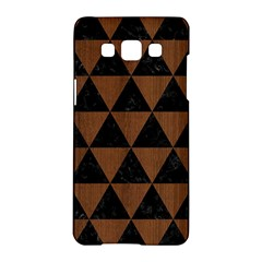 Triangle3 Black Marble & Brown Wood Samsung Galaxy A5 Hardshell Case  by trendistuff