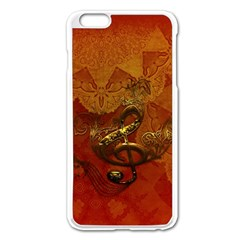 Golden Clef On Vintage Background Apple Iphone 6 Plus/6s Plus Enamel White Case by FantasyWorld7