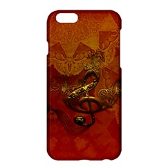 Golden Clef On Vintage Background Apple Iphone 6 Plus/6s Plus Hardshell Case by FantasyWorld7