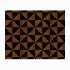 Triangle1 Black Marble & Brown Wood Small Glasses Cloth by trendistuff