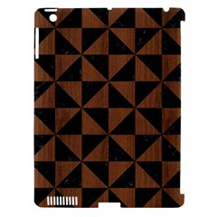 Triangle1 Black Marble & Brown Wood Apple Ipad 3/4 Hardshell Case (compatible With Smart Cover) by trendistuff