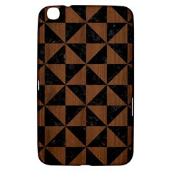 Triangle1 Black Marble & Brown Wood Samsung Galaxy Tab 3 (8 ) T3100 Hardshell Case  by trendistuff