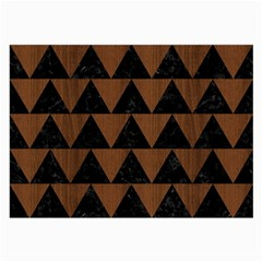 Triangle2 Black Marble & Brown Wood Large Glasses Cloth by trendistuff