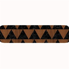 Triangle2 Black Marble & Brown Wood Large Bar Mat by trendistuff