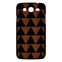 Triangle2 Black Marble & Brown Wood Samsung Galaxy Mega 5 8 I9152 Hardshell Case  by trendistuff