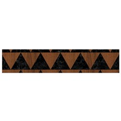 Triangle2 Black Marble & Brown Wood Flano Scarf (small) by trendistuff