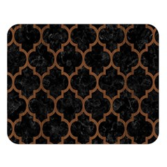 Tile1 Black Marble & Brown Wood Double Sided Flano Blanket (large) by trendistuff