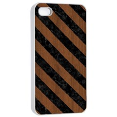 Str3 Bk Mrbl Br Wood (r) Apple Iphone 4/4s Seamless Case (white) by trendistuff
