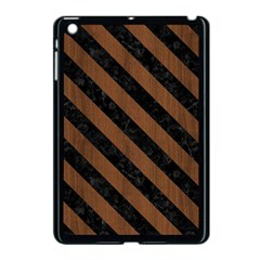 Str3 Bk Mrbl Br Wood (r) Apple Ipad Mini Case (black) by trendistuff
