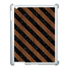 Str3 Bk Mrbl Br Wood (r) Apple Ipad 3/4 Case (white) by trendistuff