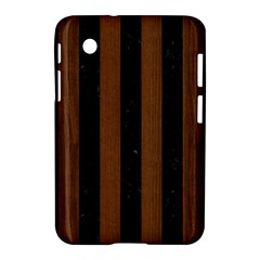 Stripes1 Black Marble & Brown Wood Samsung Galaxy Tab 2 (7 ) P3100 Hardshell Case  by trendistuff