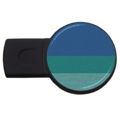 Blue Gradient Glitter Texture Pattern  Usb Flash Drive Round (4 Gb)