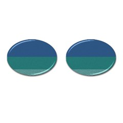 Blue Gradient Glitter Texture Pattern  Cufflinks (oval) by paulaoliveiradesign
