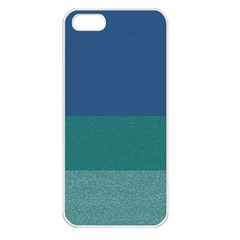 Blue Gradient Glitter Texture Pattern  Apple Iphone 5 Seamless Case (white) by paulaoliveiradesign