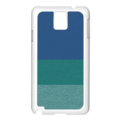 Blue Gradient Glitter Texture Pattern  Samsung Galaxy Note 3 N9005 Case (white) by paulaoliveiradesign
