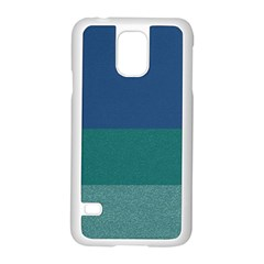Blue Gradient Glitter Texture Pattern  Samsung Galaxy S5 Case (white) by paulaoliveiradesign