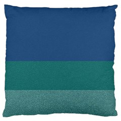 Blue Gradient Glitter Texture Pattern  Large Flano Cushion Case (one Side) by paulaoliveiradesign