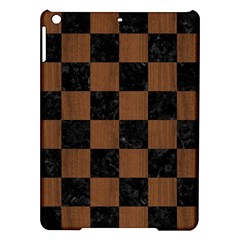 Square1 Black Marble & Brown Wood Apple Ipad Air Hardshell Case by trendistuff