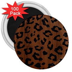 Skin5 Black Marble & Brown Wood 3  Magnet (100 Pack) by trendistuff