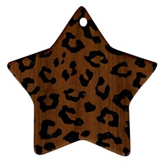 Skin5 Black Marble & Brown Wood Star Ornament (two Sides) by trendistuff