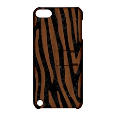 Skin4 Black Marble & Brown Wood (r) Apple Ipod Touch 5 Hardshell Case With Stand by trendistuff
