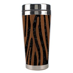 Skin4 Black Marble & Brown Wood (r) Stainless Steel Travel Tumbler