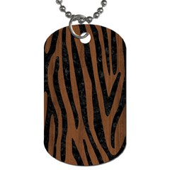 Skin4 Black Marble & Brown Wood Dog Tag (two Sides) by trendistuff