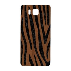 Skin4 Black Marble & Brown Wood Samsung Galaxy Alpha Hardshell Back Case by trendistuff