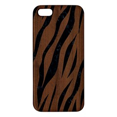 Skin3 Black Marble & Brown Wood (r) Apple Iphone 5 Premium Hardshell Case by trendistuff