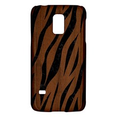 Skin3 Black Marble & Brown Wood (r) Samsung Galaxy S5 Mini Hardshell Case  by trendistuff