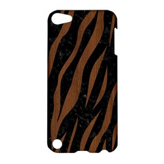 Skin3 Black Marble & Brown Wood Apple Ipod Touch 5 Hardshell Case by trendistuff